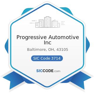 Progressive Automotive Inc - SIC Code 3714 - Motor Vehicle Parts and Accessories