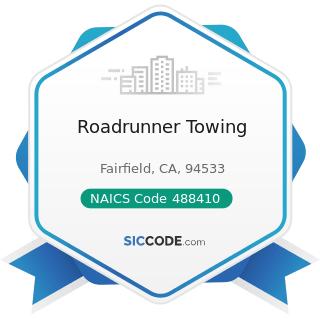 Roadrunner Towing - NAICS Code 488410 - Motor Vehicle Towing