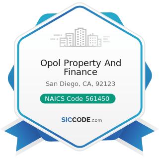 Opol Property And Finance - NAICS Code 561450 - Credit Bureaus
