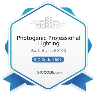 Photogenic Professional Lighting - SIC Code 3861 - Photographic Equipment and Supplies