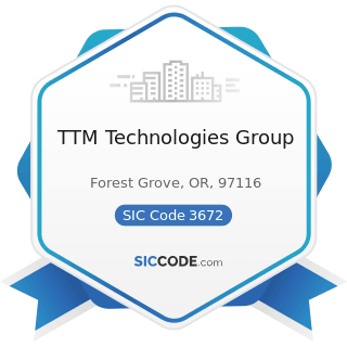 TTM Technologies Group - SIC Code 3672 - Printed Circuit Boards