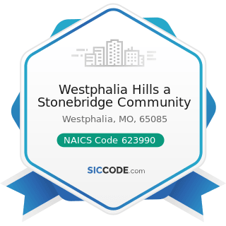 Westphalia Hills a Stonebridge Community - NAICS Code 623990 - Other Residential Care Facilities