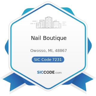 Nail Boutique - SIC Code 7231 - Beauty Shops