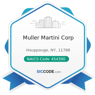 Muller Martini Corp - NAICS Code 454390 - Other Direct Selling Establishments