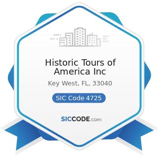 Historic Tours of America Inc - SIC Code 4725 - Tour Operators