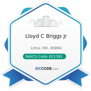 Lloyd C Briggs Jr - NAICS Code 621391 - Offices of Podiatrists