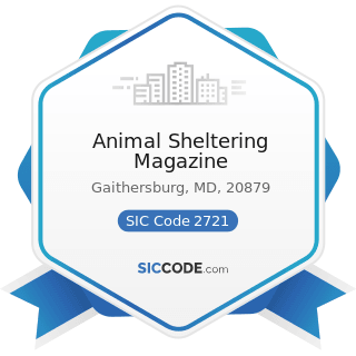 Animal Sheltering Magazine - SIC Code 2721 - Periodicals: Publishing, or Publishing and Printing