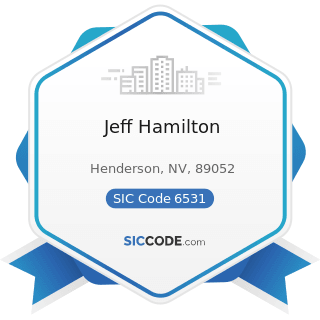 Jeff Hamilton - SIC Code 6531 - Real Estate Agents and Managers