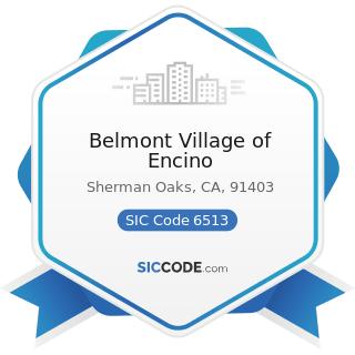 Belmont Village of Encino - SIC Code 6513 - Operators of Apartment Buildings