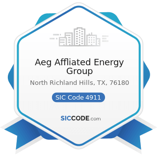 Aeg Affliated Energy Group - SIC Code 4911 - Electric Services