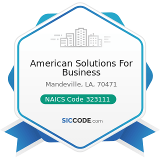 American Solutions For Business - NAICS Code 323111 - Commercial Printing (except Screen and...
