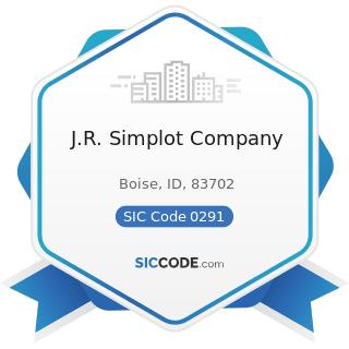 J.R. Simplot Company - SIC Code 0291 - General Farms, Primarily Livestock