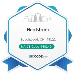 Nordstrom - NAICS Code 448140 - Family Clothing Stores