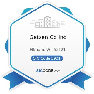Getzen Co Inc - SIC Code 3931 - Musical Instruments
