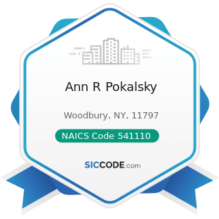 Ann R Pokalsky - NAICS Code 541110 - Offices of Lawyers