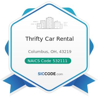 Thrifty Car Rental - NAICS Code 532111 - Passenger Car Rental