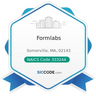 Formlabs - NAICS Code 333244 - Printing Machinery and Equipment Manufacturing