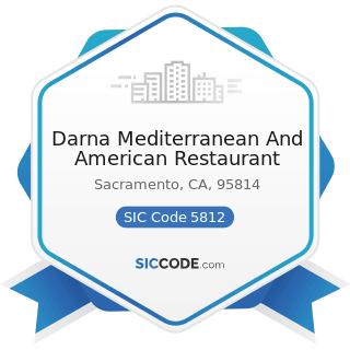 Darna Mediterranean And American Restaurant - SIC Code 5812 - Eating Places