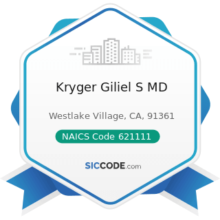 Kryger Giliel S MD - NAICS Code 621111 - Offices of Physicians (except Mental Health Specialists)