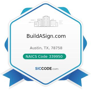 BuildASign.com - NAICS Code 339950 - Sign Manufacturing