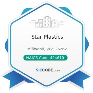 Star Plastics - NAICS Code 424610 - Plastics Materials and Basic Forms and Shapes Merchant...