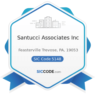 Santucci Associates Inc - SIC Code 5148 - Fresh Fruits and Vegetables
