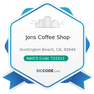 Jons Coffee Shop - NAICS Code 722511 - Full-Service Restaurants