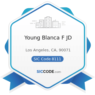 Young Blanca F JD - SIC Code 8111 - Legal Services