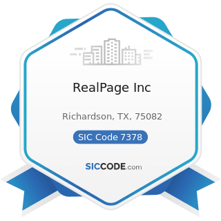 RealPage Inc - SIC Code 7378 - Computer Maintenance and Repair
