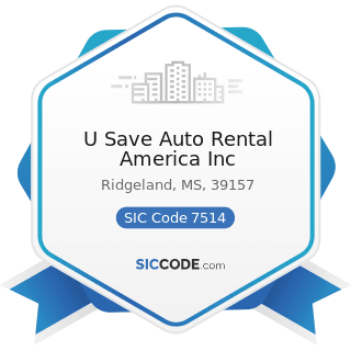 U Save Auto Rental America Inc - SIC Code 7514 - Passenger Car Rental