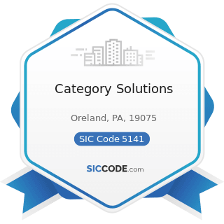 Category Solutions - SIC Code 5141 - Groceries, General Line