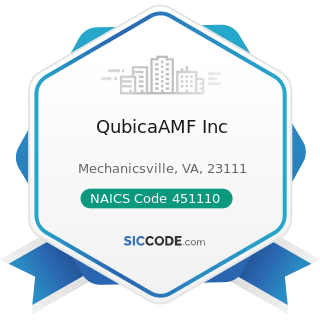 QubicaAMF Inc - NAICS Code 451110 - Sporting Goods Stores