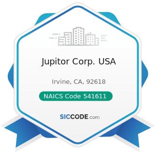 Jupitor Corp. USA - NAICS Code 541611 - Administrative Management and General Management...
