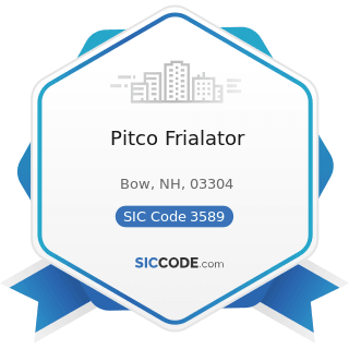 Pitco Frialator - SIC Code 3589 - Service Industry Machinery, Not Elsewhere Classified