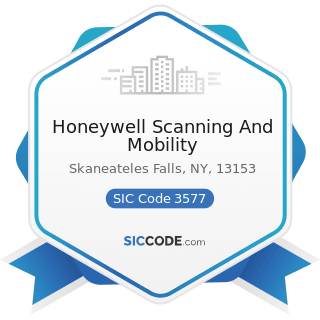Honeywell Scanning And Mobility - SIC Code 3577 - Computer Peripheral Equipment, Not Elsewhere...