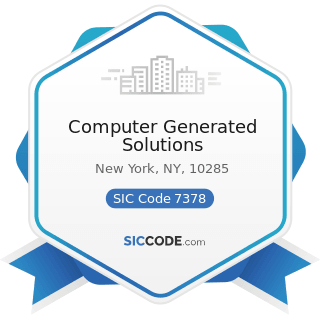 Computer Generated Solutions - SIC Code 7378 - Computer Maintenance and Repair
