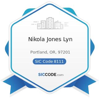 Nikola Jones Lyn - SIC Code 8111 - Legal Services
