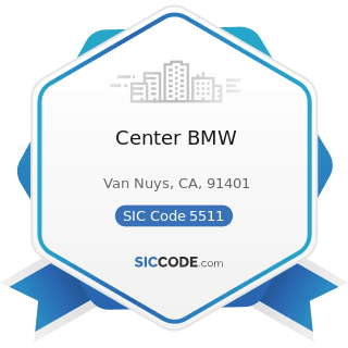 Center BMW - SIC Code 5511 - Motor Vehicle Dealers (New and Used)