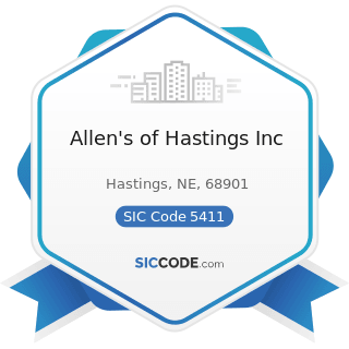 Allen's of Hastings Inc - SIC Code 5411 - Grocery Stores