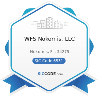 WFS Nokomis, LLC - SIC Code 6531 - Real Estate Agents and Managers