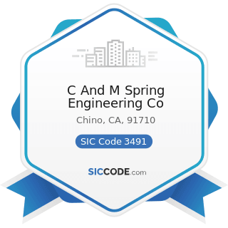 C And M Spring Engineering Co - SIC Code 3491 - Industrial Valves