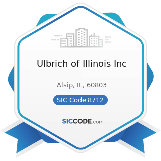 Ulbrich of Illinois Inc - SIC Code 8712 - Architectural Services
