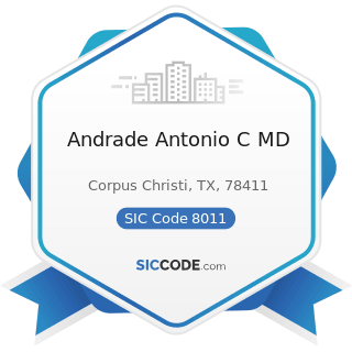 Andrade Antonio C MD - SIC Code 8011 - Offices and Clinics of Doctors of Medicine
