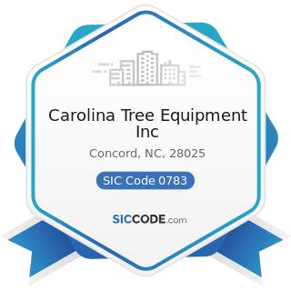 Carolina Tree Equipment Inc - SIC Code 0783 - Ornamental Shrub and Tree Services