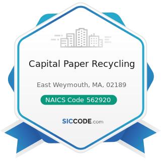 Capital Paper Recycling - NAICS Code 562920 - Materials Recovery Facilities
