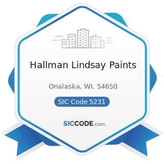 Hallman Lindsay Paints - SIC Code 5231 - Paint, Glass, and Wallpaper Stores