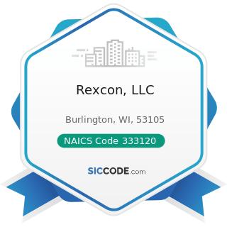 Rexcon, LLC - NAICS Code 333120 - Construction Machinery Manufacturing