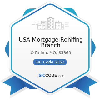 USA Mortgage Rohlfing Branch - SIC Code 6162 - Mortgage Bankers and Loan Correspondents