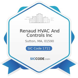 Renaud HVAC And Controls Inc - SIC Code 1711 - Plumbing, Heating and Air-Conditioning