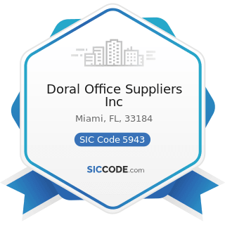 Doral Office Suppliers Inc - SIC Code 5943 - Stationery Stores